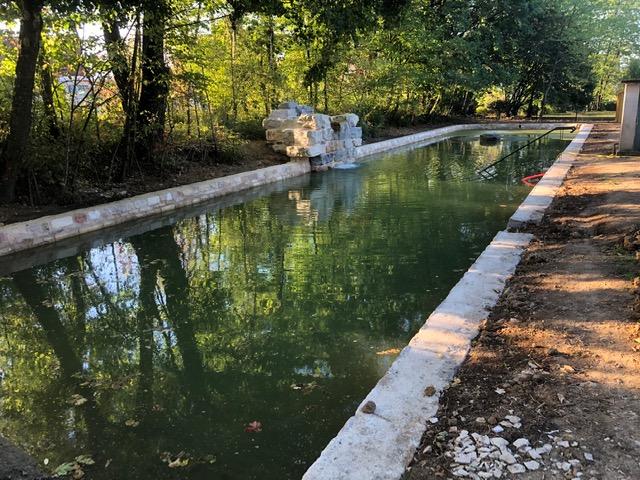Restauration d'un bassin en pierre