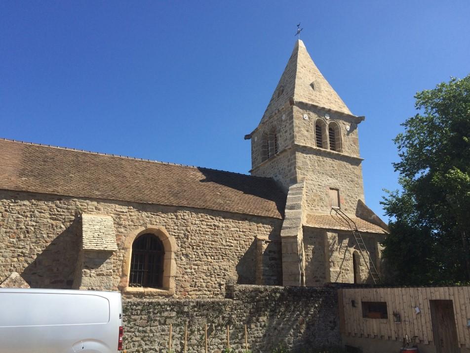 Rénovation de l'église de Chatel Moron